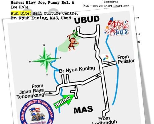 Bali Hash House Harriers 2 Next Run Map Run #1504 Sat 9th Oct 2021