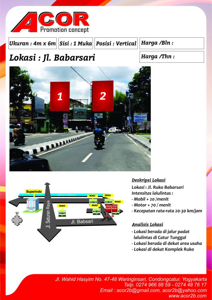 Titik Baliho Jl.Babarsari
