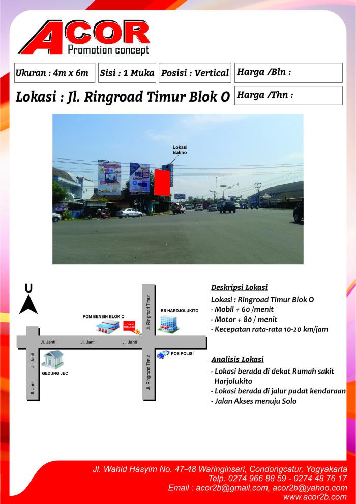 Titik Baliho Jl Ringroad Timur Blok O