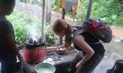 see the how to make Balinese cake in sekumpul village during our trekking time