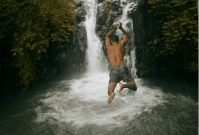 jumping-at-kroya-waterfalls-sambangan-trekking-with-local-guide