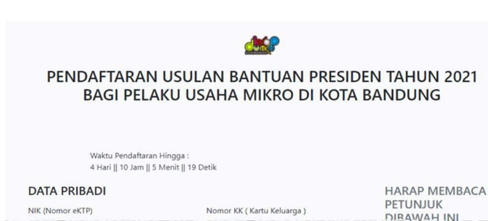 Buka Link: https://siumkm.bandung.go.id/bpum2021, Daftar BPUM Tahap 3 Kota Bandung April 2021