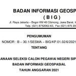 Download Formasi CPNS Geospasial 2021 PDF Link Daftar sscn.go.id login