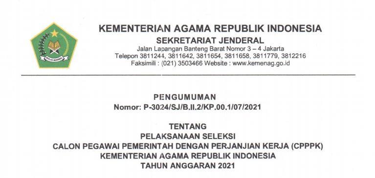 Download PDF Formasi CPNS 2021 Kementerian Agama daftar di SSCN.BKD.GO.ID Login