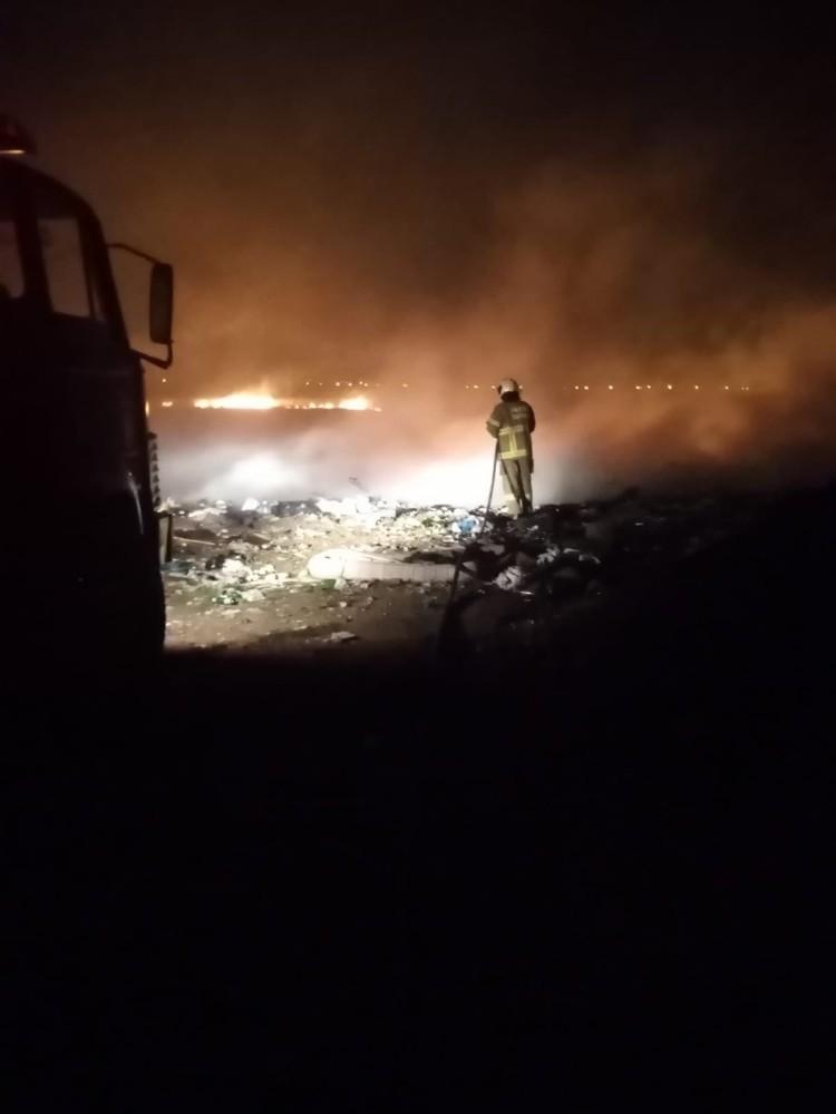Sazlık yangını söndürüldü