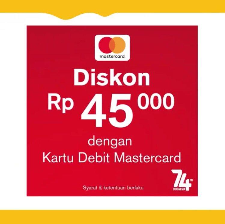 Promo Kemerdekan MCD Menggunakan Kartu Debit MasterCard