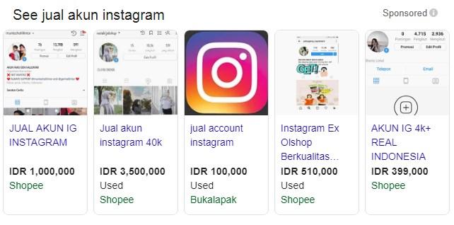 jual akun social media