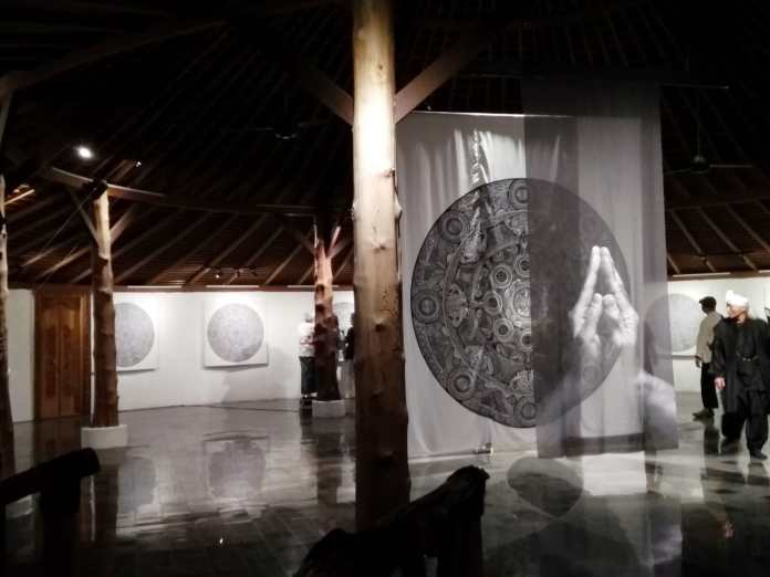 One of the artworks displayed at