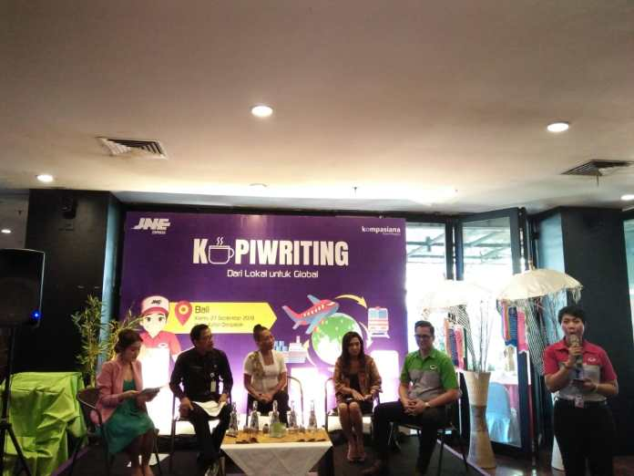 Kopiwriting event held by JNE and Kompasiana which aimed to support Bali SMEs to reach global market.