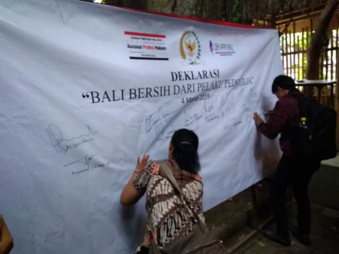 Declaration of Clean Bali from Pedophile Perpetrator, on Monday.