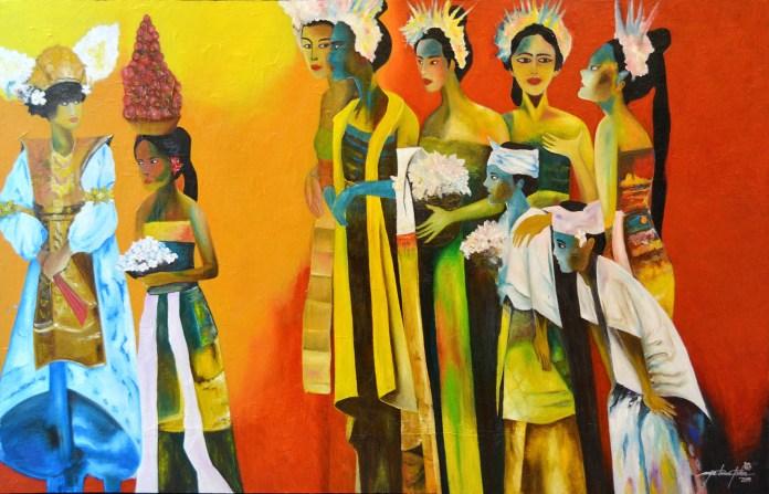 Painting by Arya Trimni Putra.