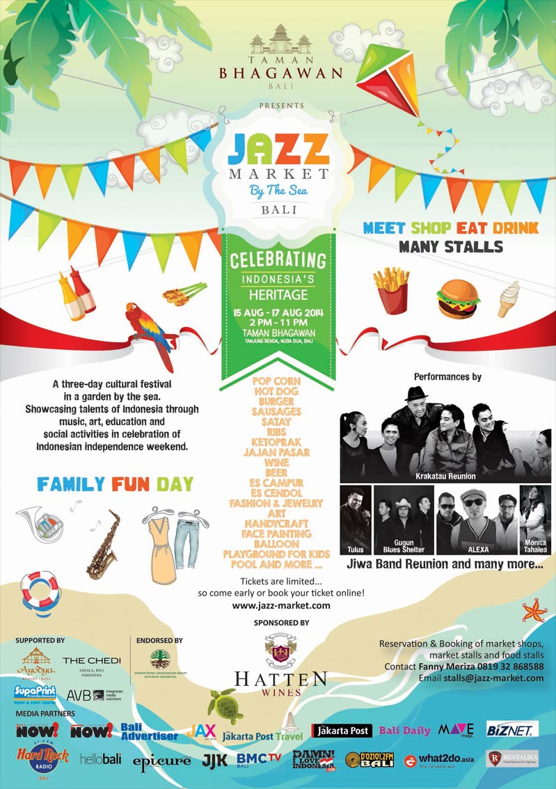 Jazz Market by the Sea Bali 15. – 17. August 2014, Bali