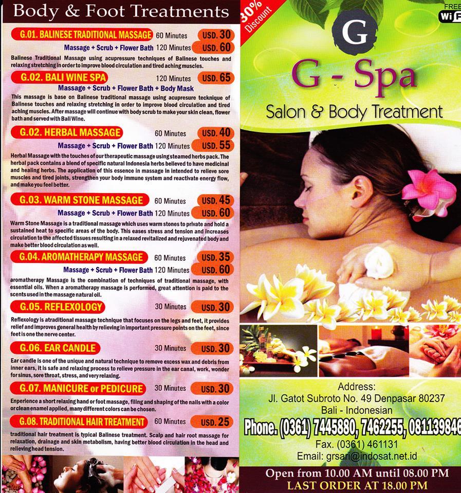 G-Spa Bali – Denpasar