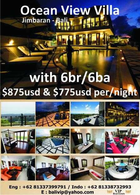 6-bedroom luxury villa with ocean view for rent
