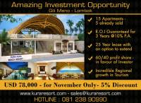 Amazing Investment Opportunity, Gili Meno, Lombok