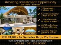 Amazing Investment Opportunity, Gili Meno, Lombok