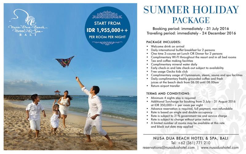 Summer Holiday Package at Nusa Dua Beach Hotel & Spa, Bali