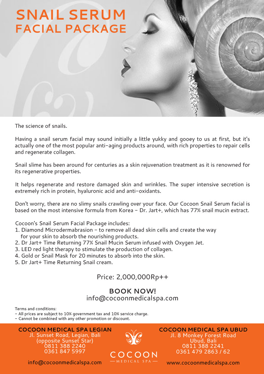 Snail Serum Facial Package from Cocoon Mediacal Spa