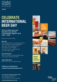 Celebrate International Beer Day at Four Points by Sheraton Bali, Kuta