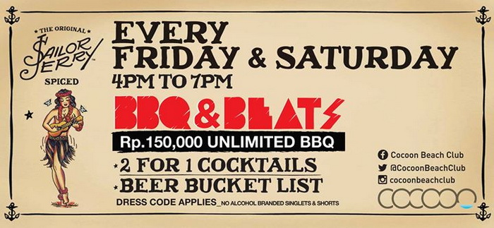 BBQ & Beats Every Friday & Saturday at Cocoon Beach Bali