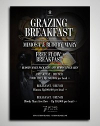 Grazing breakfast / brunch @ Settimo Cielo Bali Restaurant