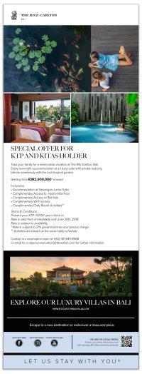 Ritz Carlton Bali. Special Offer for KITAS Holder