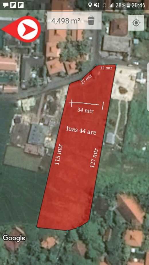 Land 4400 sqm for 25 years lease next to Canggu Plaza in Brawa near Canggu Club Canggu Bali