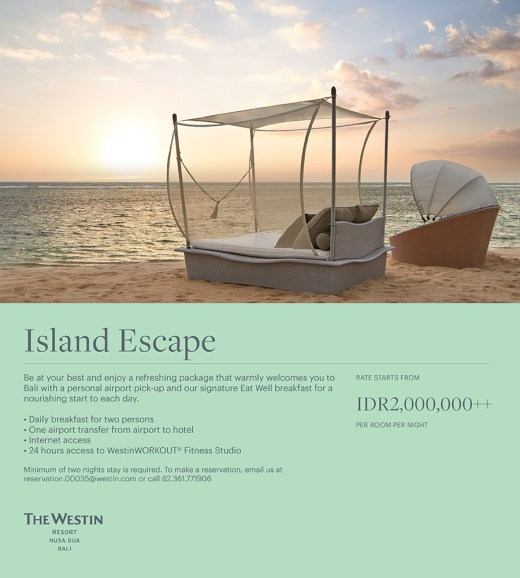 Island Escape at The Westin Resort Nusa Dua, Bali