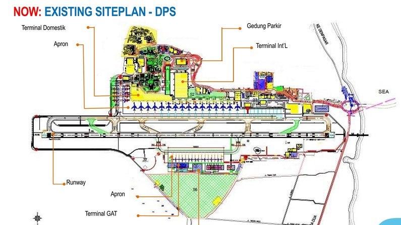 Bali airport existing plan