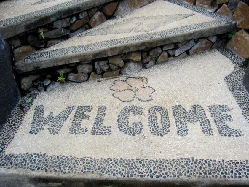 Welcome at Wawa-Wewe Rock in Banuyning (Amed area), Karangasem, Bali, Indonesia
