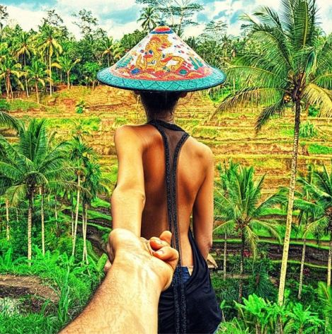 Petite excursion dans les rizières de Bali en Indonésie, où l'on peut admirer la technique originale d'irrigation des champs... © Murad Osmann