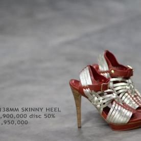 Collection Niluh Djelantik - Chaussures en cuir filé à talons par Niluh Djelantik