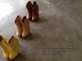 Collection Niluh Djelantik - Bottines en cuir à talons