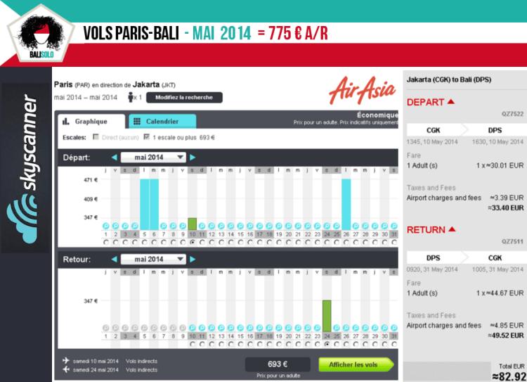 Vols Paris-Bali mai 2014 vol paris bali prix