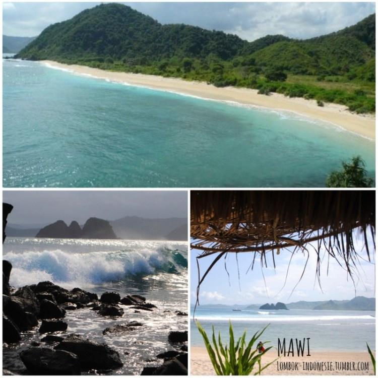 n°4 : la plage de Mawi à Kuta Lombok - Top 5 des plus jolies plages