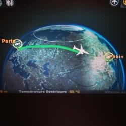 Carte de vol Paris Pekin sur Air China