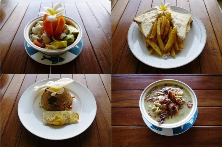 Cuisine au Meditasi bungalows à Amed (Bali)