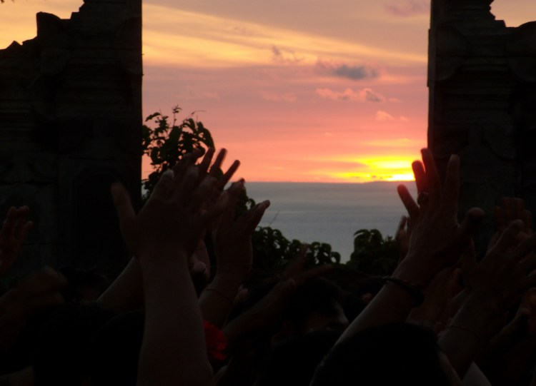 Uluwatu kecak sunset Bali couple Interview Balisolo