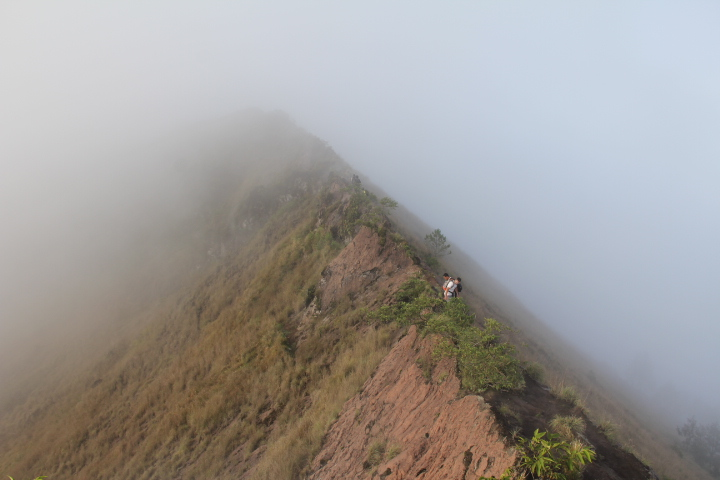 La crête du Mont Batur © Laurent