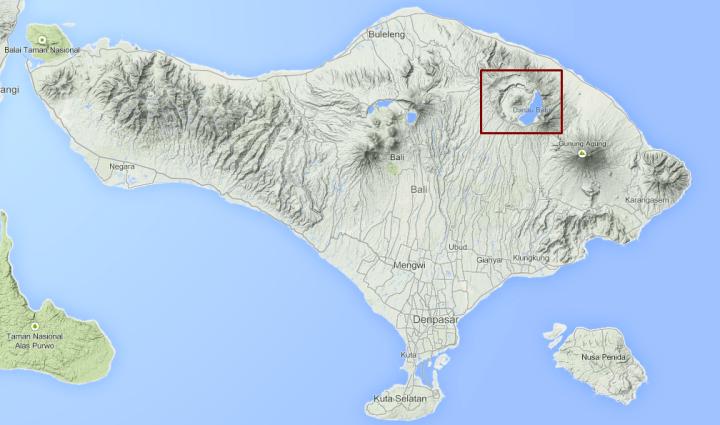 Carte Mont Batur Bali Indonesie