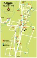 Carte de Bangli à Bali en Indonésie
