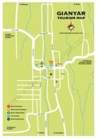 Carte de la ville de Gianyar à Bali en Indonésie