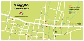 Carte de la ville de Negara à Bali en Indonésie
