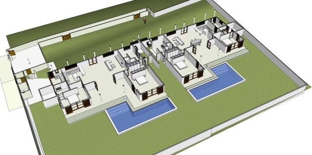 Plan 3D de la Villa Teva à Kerobokan - Balisolo
