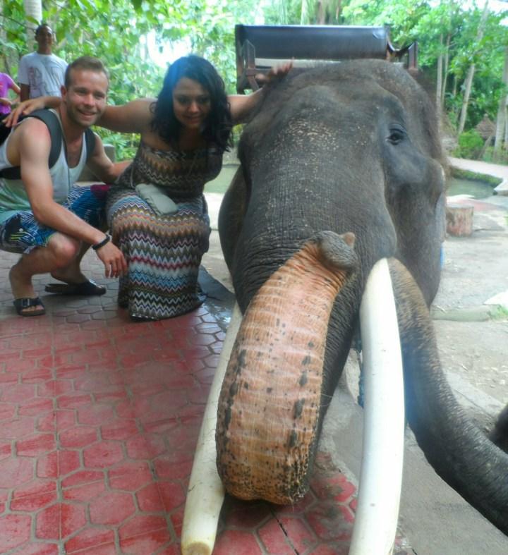 Eléphant, Elo et chéri à Bali
