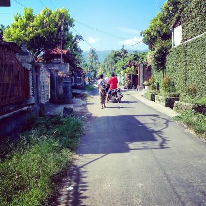 La ruelle au calme du Lovina Oasis Hotel