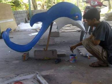Préparation du carnaval Lovina Festival par l'association Anak Bali - Balisolo (2)