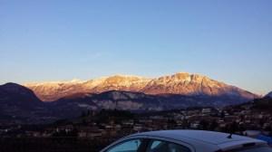 Le Dolomiti in inverno viste da Povo