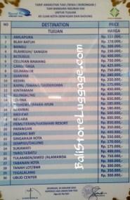Bali Ngurah Rai airport taxi rate price