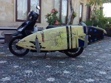 bali, surf board, bike